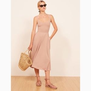 REFORMATION rou blush midi dress✨8